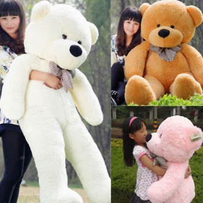 """39"""" Large Giant Big Teddy Bear  Soft Plush 100% Cotton Toys Doll Gift For Kids"""