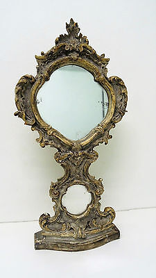 Psyche - mirror table antique wood carved decor sheet acanthus