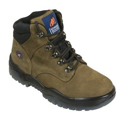 Mongrel Boots 260 050 Safety Work Steel Cap Walking Ppe Lace Up Unisex Olive Uk3