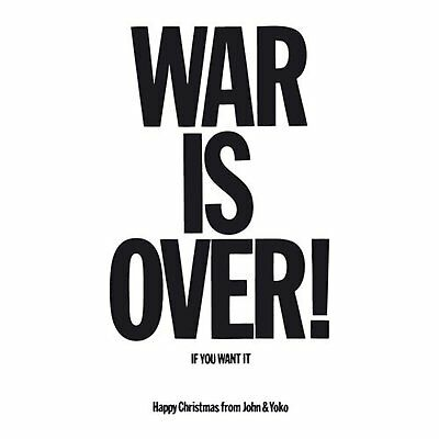 John Lennon War Is Over Greeting Birthday Card Any Occasion Album Cover Official