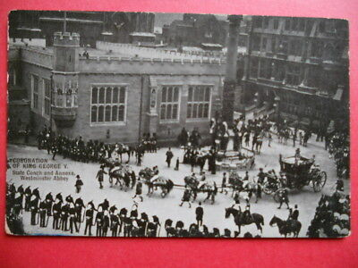 CORONATION OF KING GEORGE V.  :  State Coach - Westminster Abbey.