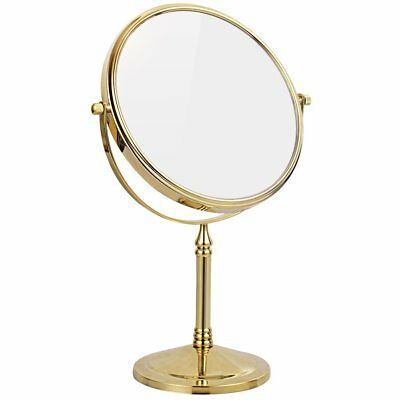 GURUN Gold Double Sided Standing Tabletop Makeup Mirrors 10X/7X5X Magnification