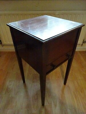 Elegant Vintage 50s 60s Tall Sewing Table with Drawer 65 x 35 x 35 cm