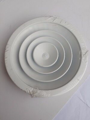 200mm White Circular Air Diffuser with mouting bracket & fixings - qty 2