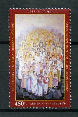 Armenia 2017 MNH Holy Icon Martys of Armenian Genocide 1v Set Icons Art Stamps