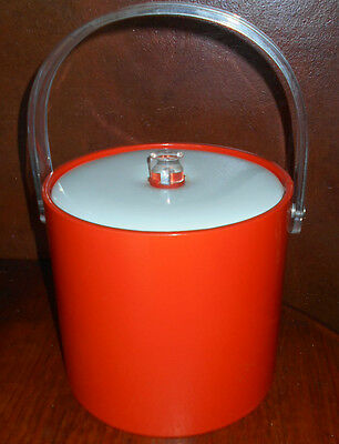 Vintage Vinyl and Lucite Ice Bucket