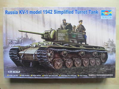 Trumpeter 00358 Russia KV-1 model 1942 Simplified Turret Tank 1:35