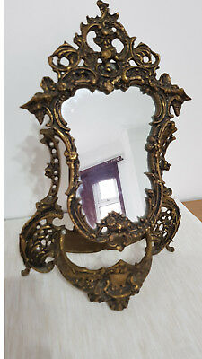 Antique Solid Bronze Dresser Mirror over 55 years old