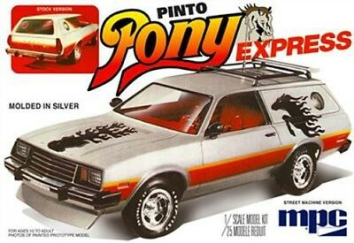 MPC 1979 Ford Pinto Wagon Pony Express - Plastic Model Car Truck Vehicle - 1/25