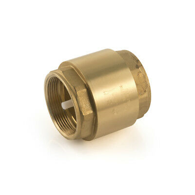"""New Single Check Valve 110°C, 1.1/2"""" BSP, hot or cold water, female, BRASS, DIY"""