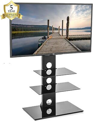 "Mountright Cantilever Floor TV Stand With Swivel TV Bracket For Screen 27"" - 55"""