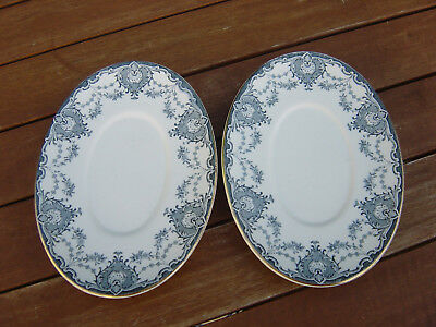 "keeling & co late mayers ""venice"" oval plates x 2"