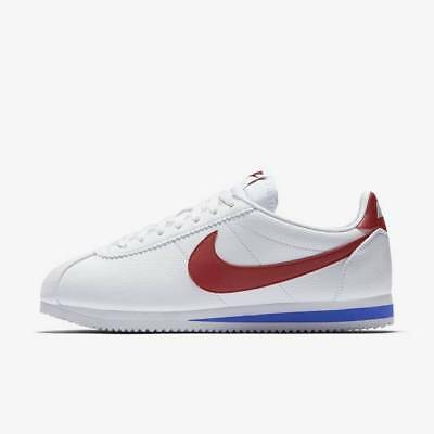 Nike Classic Cortez Leather Forrest Gump 749571-154 White Varsity Royal Red Run
