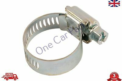 Jubilee Clips Stainless Steel Secure Fastening Hose Clamps Worm Drive, 20 - 30mm