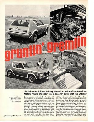 1970 Amc Gremlin 401 Dual-Carb  ~  Original Article / Ad