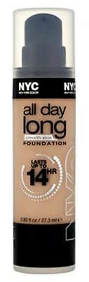 NYC All Day Long Smooth Skin Foundation 14 Hour 27.3ml New 739 Classic Beige