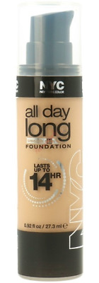 NYC All Day Long Smooth Skin Foundation 14 Hour 27.3ml New 744 Soft Beige