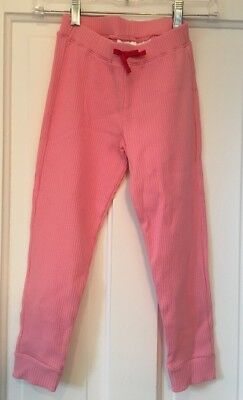 NWT HANNA ANDERSSON Cotton Spandex Pink Ribbed Leggings Pants Sz 140 or 10 NEW
