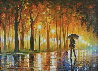 """""""Bewitched Park"""" By Leonid Afremov Limited Edition Hand Embellished 30X40"""