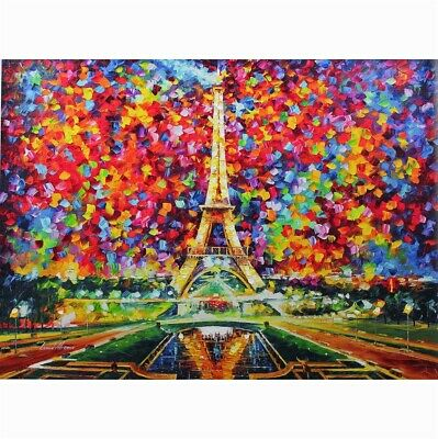 """""""Paris Of My Dreams"""" By Leonid Afremov Limited Edition Hand Embellished 30X40"""
