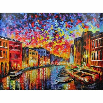 """Venice Grand Canal"" By Leonid Afremov Limited Edition Hand Embellished 30X40"