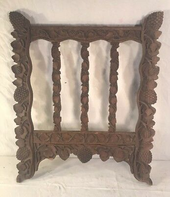 Antique Carved Wood Gate Architectural Fragment
