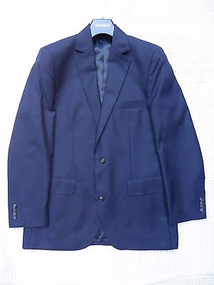Gazman Size 38 Men's Italian Woven Pure Wool Blazer In Navy (As New)