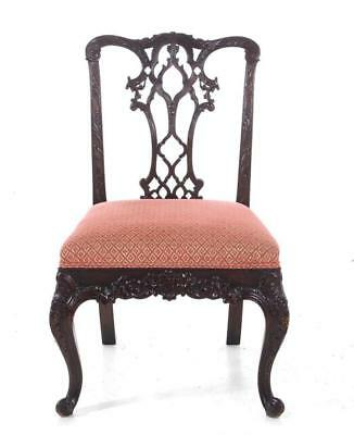 Georgian style carved mahogany chair, probably Irish Lot 1094