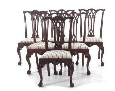 Chippendale style carved mahogany dining chairs (6pcs) Lot 1111
