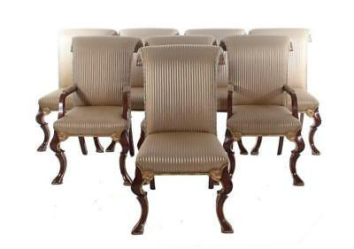 Rose Tarlow-Melrose house carved giltwood dining chairs (8pcs) Lot 1097
