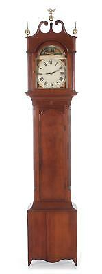 Federal inlaid cherry tall case clock Lot 1093