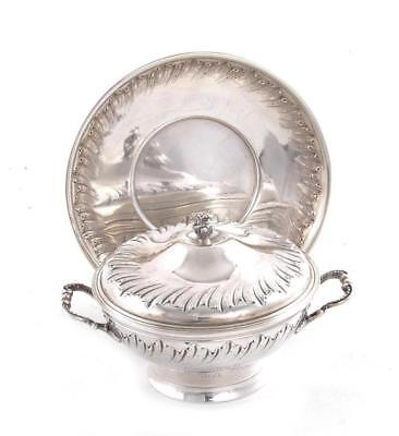 French silver presentation covered cup on stand, Andre Aucoc Lot 1175