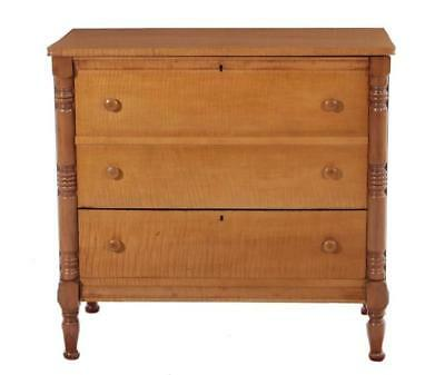 American tiger maple mule chest Lot 1288