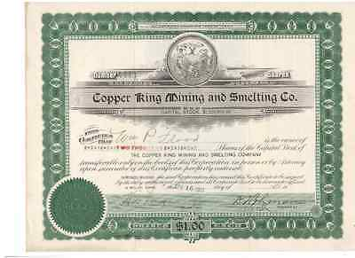 Copper King Mining and Smelting Co. 1918