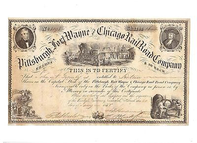 Pittsburgh Fort Wayne and Chicago Railroad 1858