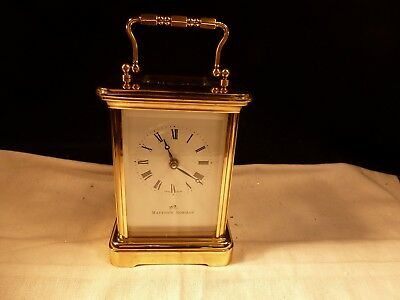 Matthew Norman 11 Jewel Swiss Brass & Glass 8 Day Spring Carriage Clock 1754