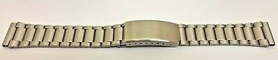 NEW OLD STOCK GENTS STAINLESS STEEL WATCH STRAP 18mm