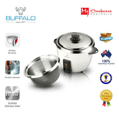Buffalo Ezy Stainless Steel Rice Cooker (5 cups) - Save $20 NOW