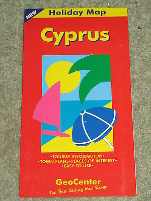 Geocentre holiday map of Cyprus.  Scale 1;275,000 - 2001 edition