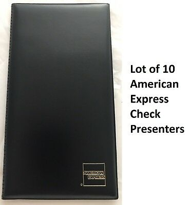 Lot of 10 American Express Double Panel Bill Check Presenter Holder Server Book