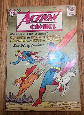 Action Comics #266. July 1960. Superman, Supergirl, Scratchy, Krypto