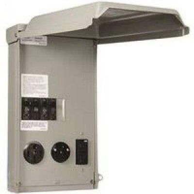 50 Amp Rv Power Outlet Box 50/30/20A Panel Temporary Load Center Motorhome 240V