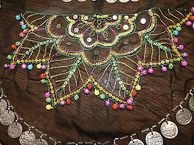 multicolor w/ coins sequined hip scarf + new green one, Arabian horse costume