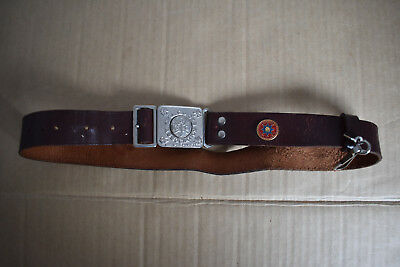Great Old Leather Girl Guides Belt.
