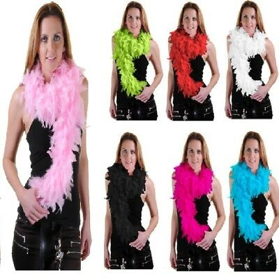 New Feather Boa Hen Night Party Accessory Gatsby Fancy Dress Fluffy Burlesque