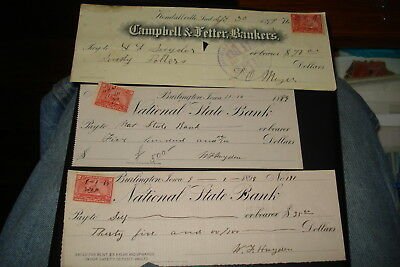 Group Of Old- Bank Checks!! #5