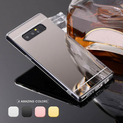 Luxury Slim Mirror Soft Silicone TPU Clear Bumper Phone Case Cover For Samsung