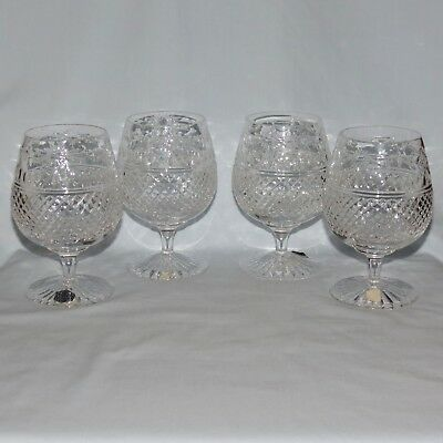 set of 4 unboxed STUART CRYSTAL ENGLAND Beaconsfield brandy balloons