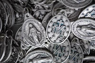 Huge Catholic Italian Miraculous Medal Lot - 100 Medals - FREE SHIPPING in USA