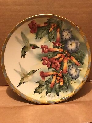 "LENOX ""ROSE MORNING"" by Catherine McClung1992 Collector Plate number B1021"